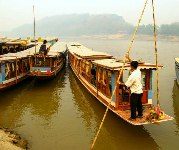 Laotian Mekong Slow Boat to Thailand
