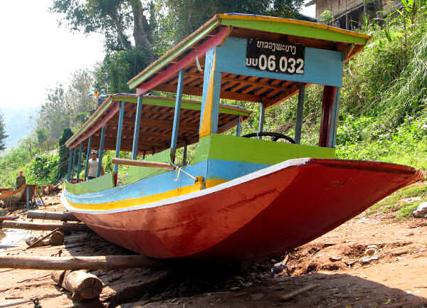 Ou River Boat Dry-docked